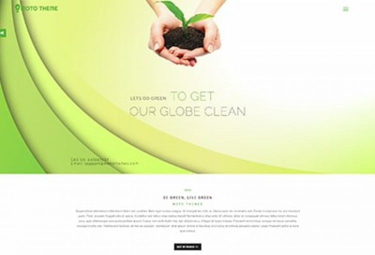 Eco Friendly Wordpress Theme
