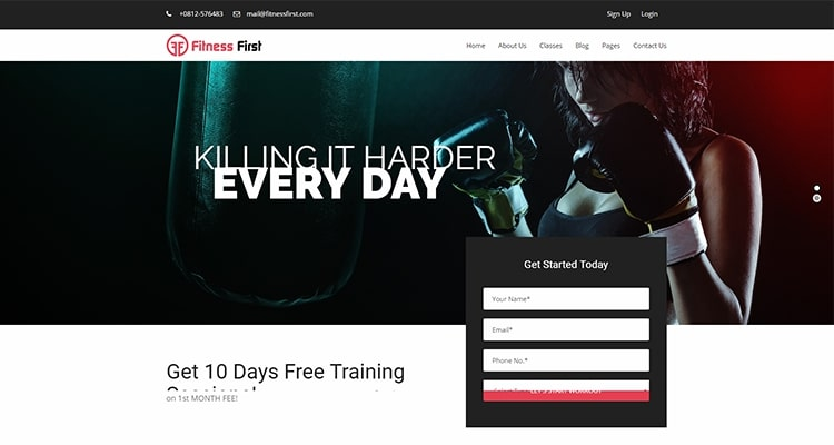 Fitness First Wordpress Theme