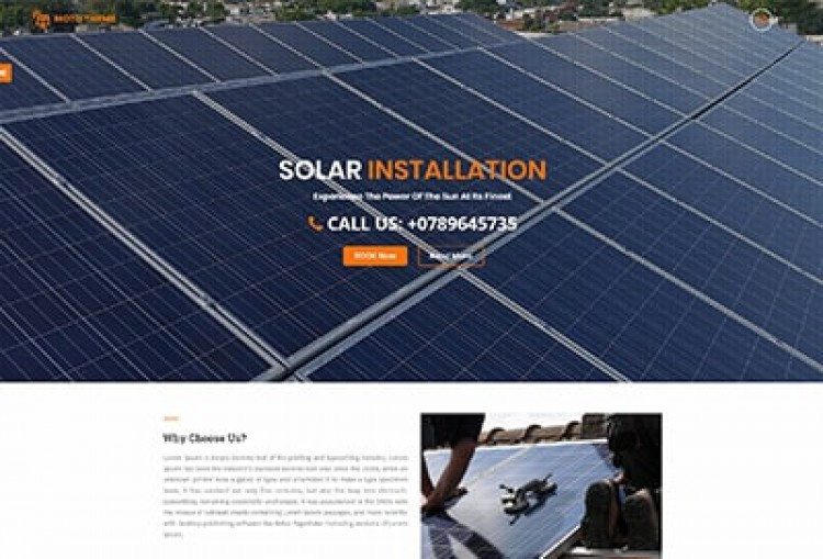 Solar Installation Wordpress Theme